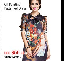 Oil Painting Patterned Dress