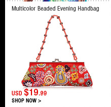 Multicolor Beaded Evening Handbag