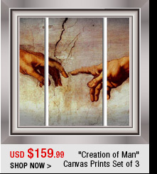 """Creation of Man"" Canvas Prints Set of 3"