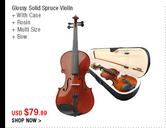 Glossy Solid Spruce Violin