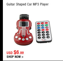 Guitar Shaped Car MP3 Player