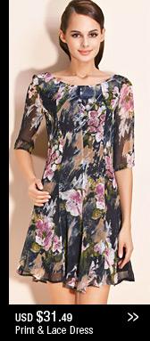 Print & Lace Dress