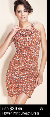 Flower Print Sheath Dress