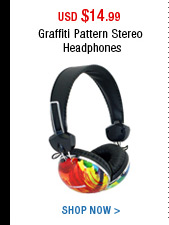 Graffiti Pattern Stereo Headphones