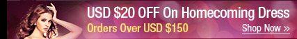 USD $20 OFF On Homecoming Dress Orders Over USD $150