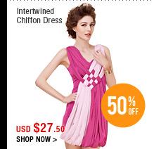 Intertwined Chiffon Dress