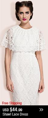 Shawl Lace Dress