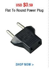 Flat To Round Power Plug