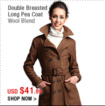 Double Breasted Long Pea Coat