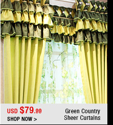 Green Country Sheer Curtains