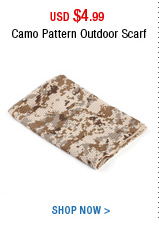 Camo Pattern Outdoor Scarf