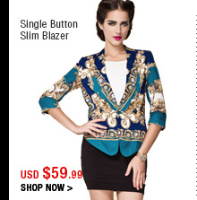 Single Button Slim Blazer