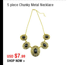 5 piece Chunky Metal Necklace