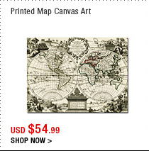 Printed Map Canvas Art