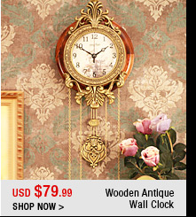 Wooden Antique Wall Clock