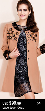 Lace Wool Coat