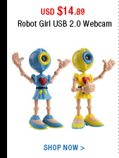 Robot Girl USB 2.0 Webcam