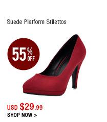 Suede Platform Stilettos