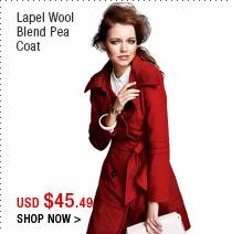 Lapel Wool Blend Pea Coat