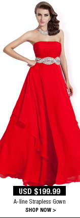 A-line Strapless Gown