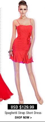 Spaghetti Strap Short Dress