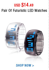Pair Of Futuristic LED Watches