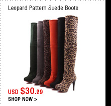 Leopard Pattern Suede Boots