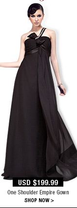 One Shoulder Empire Gown
