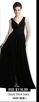 Classic Black Gown