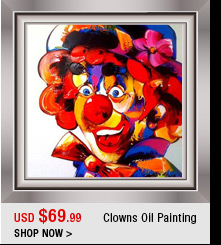 Clowns Oil Painting