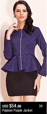 Peplum Purple Jacket