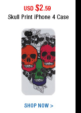 Skull Print iPhone 4 Case