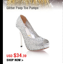 Glitter Peep Toe Pumps
