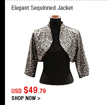 Elegant Sequinned Jacket