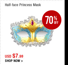 Half-face Princess Mask