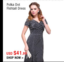 Polka Dot Fishtail Dress