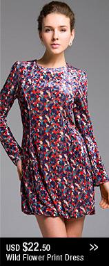 Wild Flower Print Dress