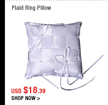 Plaid Ring Pillow