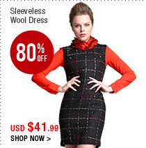 Sleeveless Wool Dress