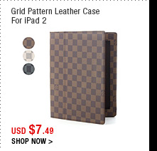 Grid Pattern Leather Case