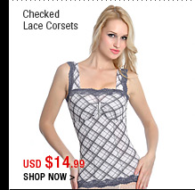 Checked Lace Corsets