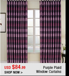 Purple Plaid Window Curtains
