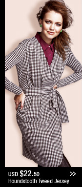 Houndstooth Tweed Jersey