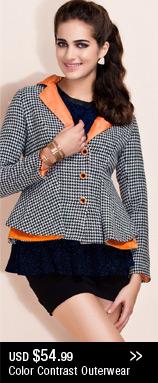 Color Contrast Outerwear