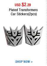 Plated Transformers Car Stickers(2pcs)