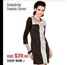 Simplicity Sequin Dress