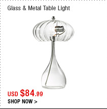 Glass & Metal Table Light