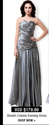 Sheath Column Evening Dress