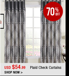 Plaid Check Curtains