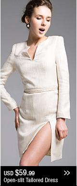 Open-slit Tailored Dress
